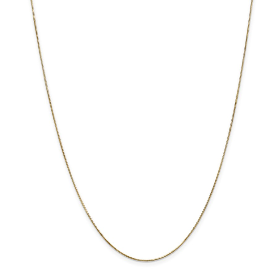 14k Gold .65 mm Round Snake Chain Necklace - 18 in.