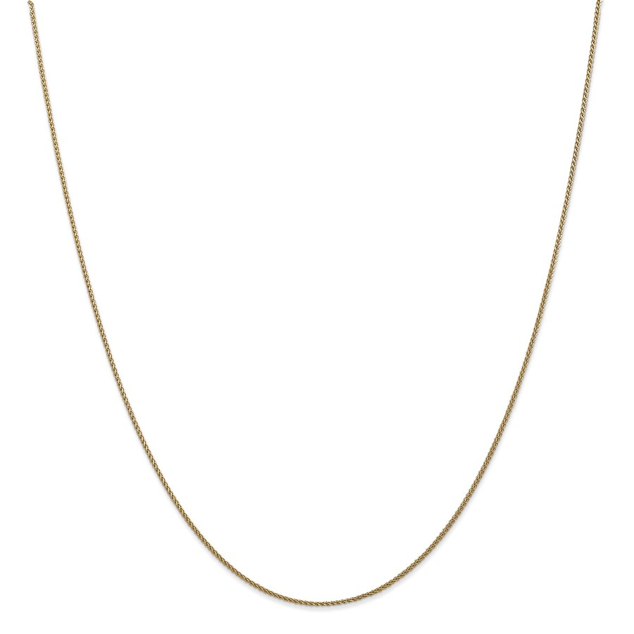 14k Gold .65 mm Solid Diamond-cut Spiga Chain Necklace - 16 in.