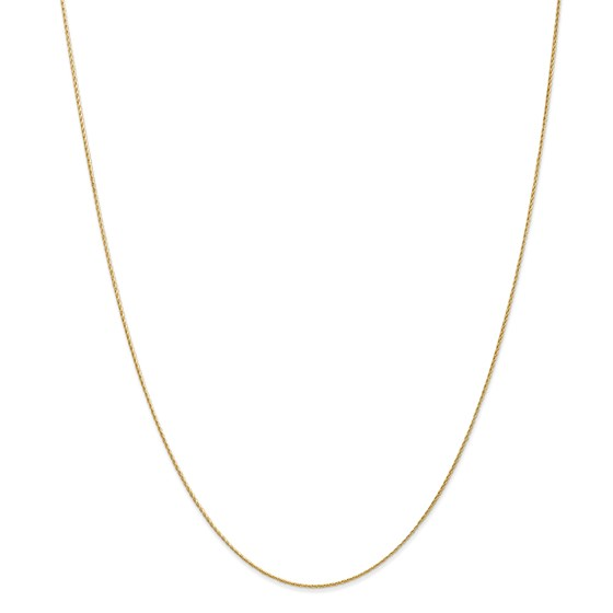 14k Gold .7 mm Baby Parisian Wheat Chain Necklace - 18 in.