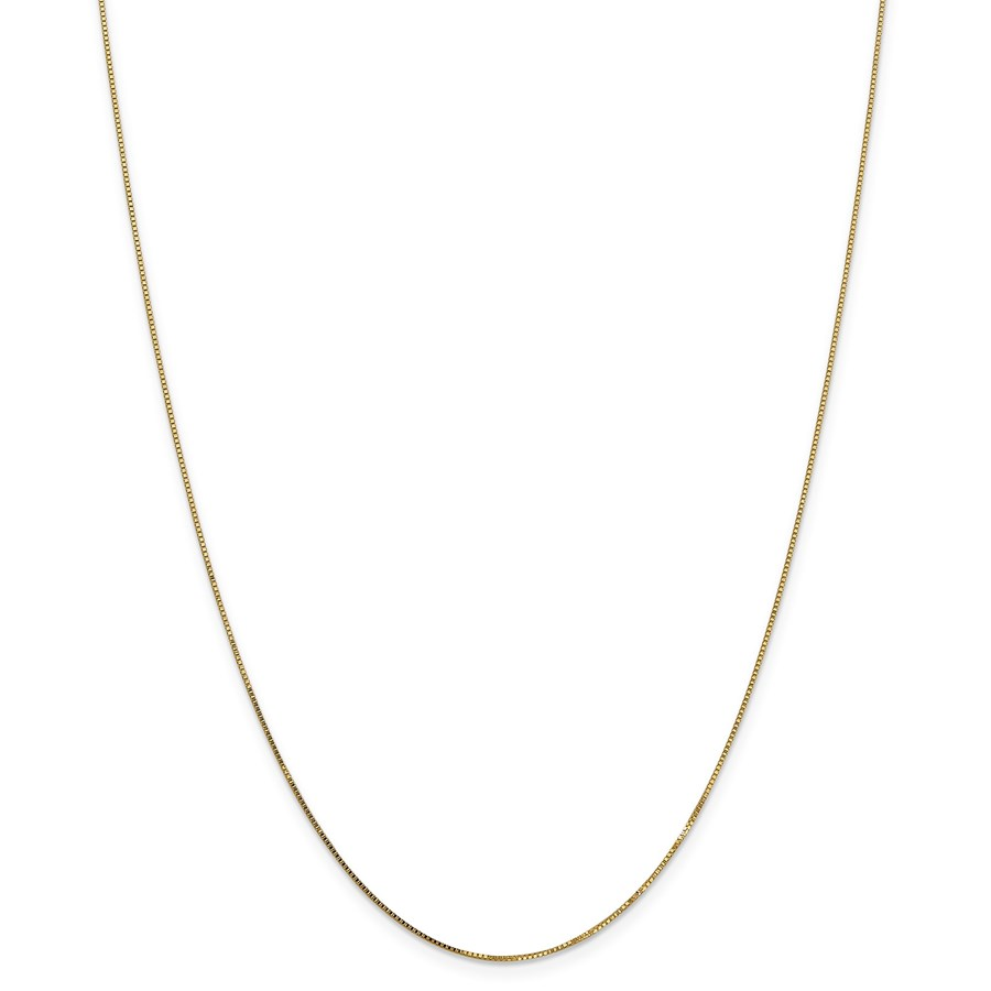 14k Gold .7 mm Box Chain Necklace - 24 in.