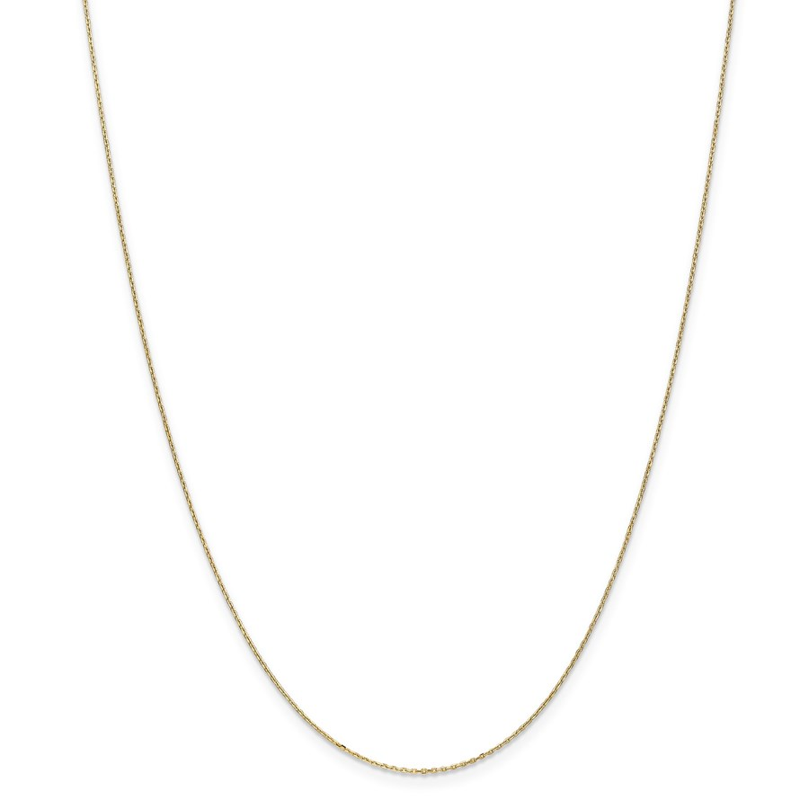 14k Gold .8 mm Diamond-cut Cable Chain Necklace - 20 in.