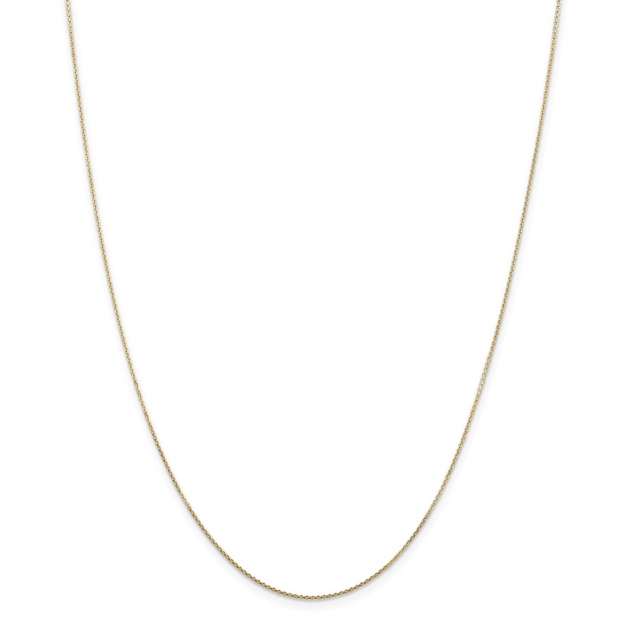 14k Gold .80 mm Diamond-cut Cable Chain Necklace - 20 in.