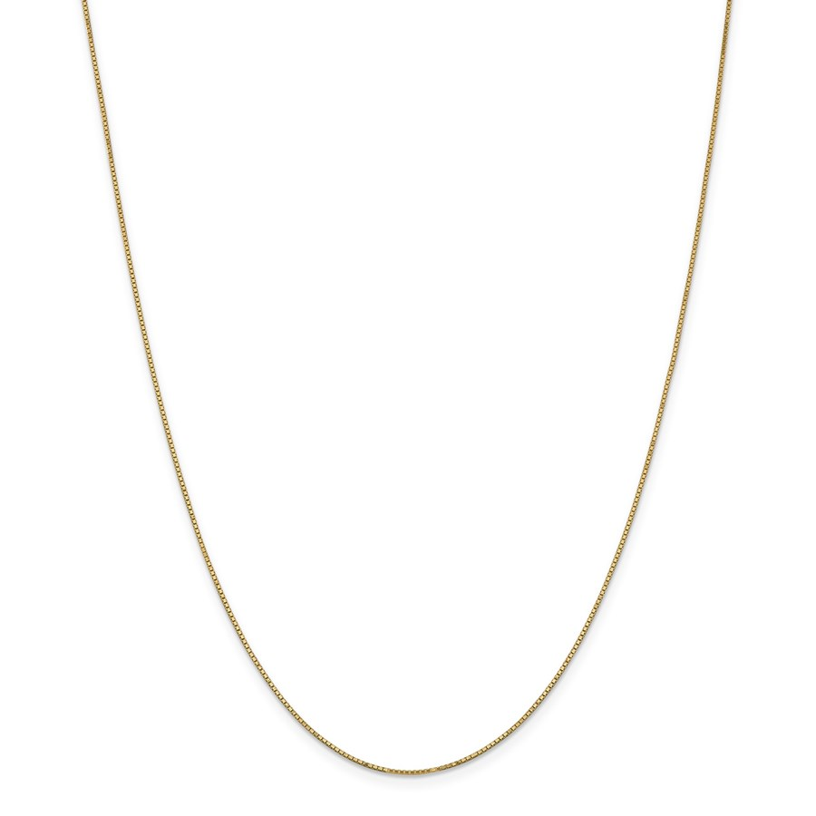 14k Gold .9 mm Box Chain w/Spring Ring Necklace - 16 in.