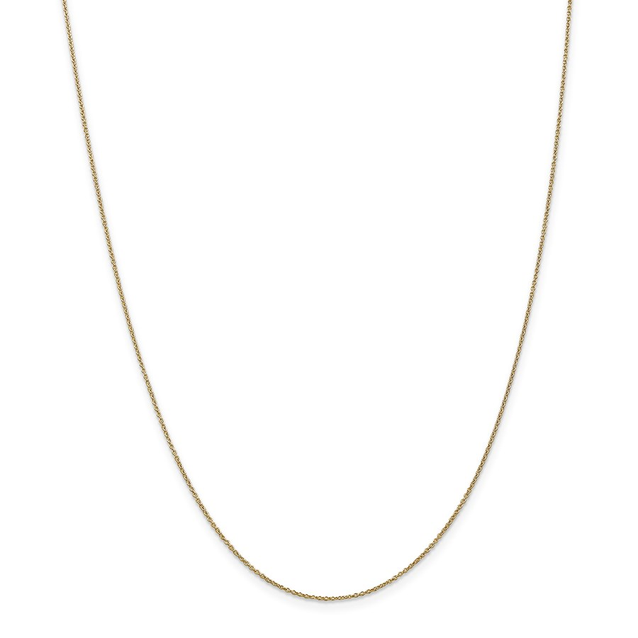 14k Gold .9 mm Cable Chain Necklace - 20 in.