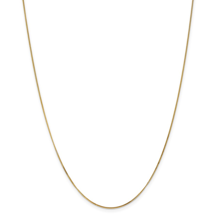 14k Gold .9 mm Curb Pendant Chain Necklace - 16 in.