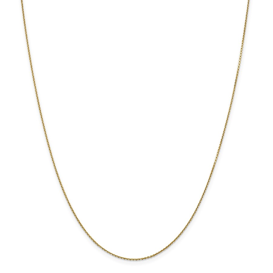 14k Gold .90 mm Diamond-cut Cable Chain Necklace - 20 in.