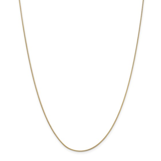 14k Gold .90 mm Round Snake Chain Necklace - 20 in.