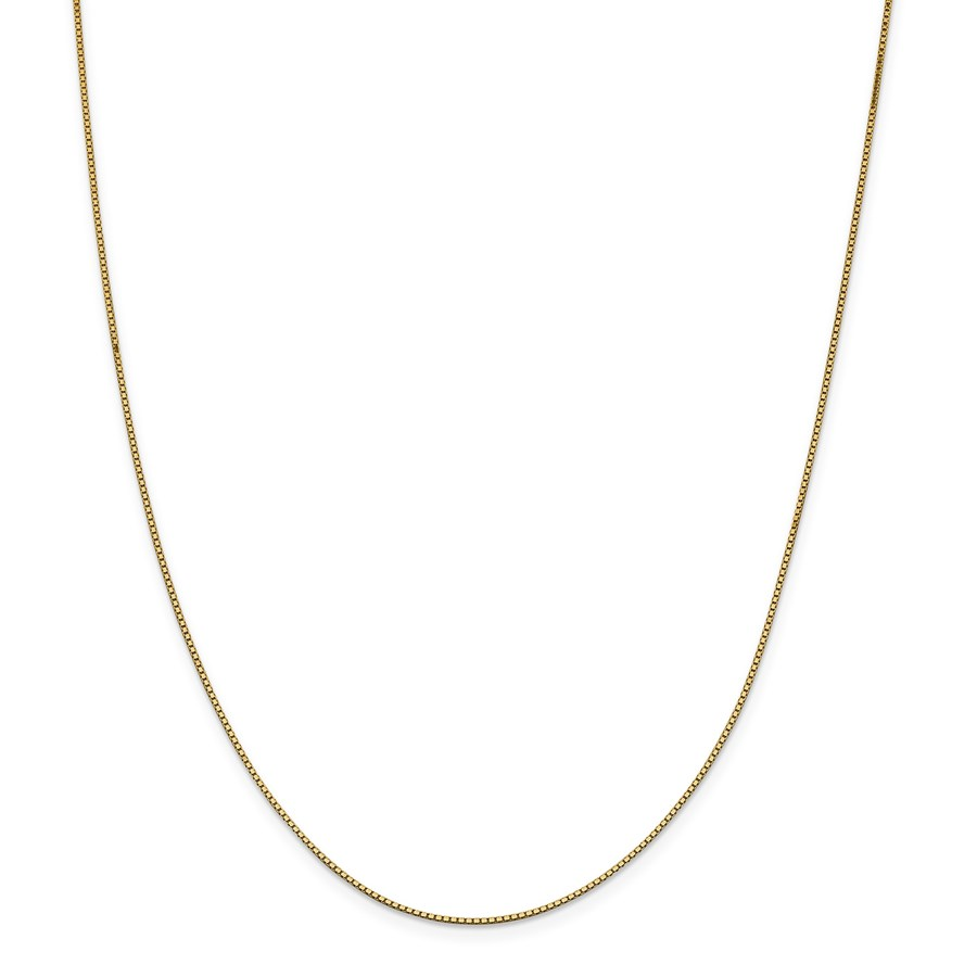 14k Gold .95 mm Box Chain Necklace - 18 in.