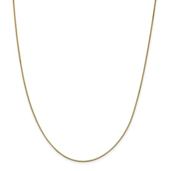 14k Gold .95 mm Box Chain Necklace - 24 in.
