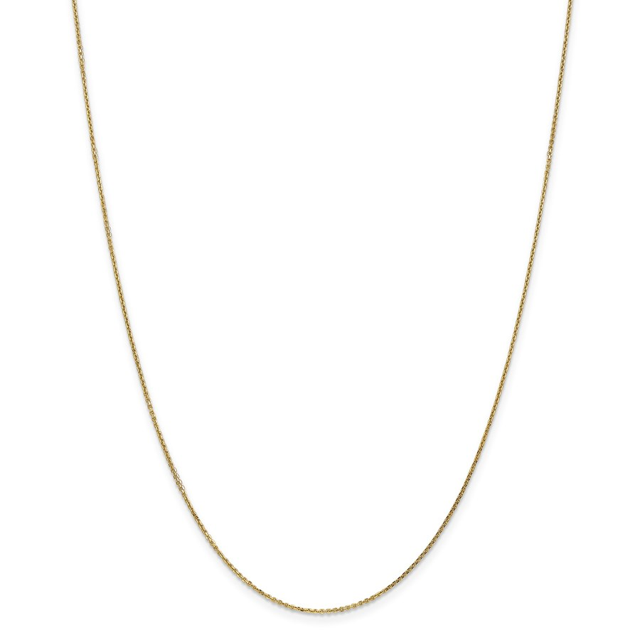 14k Gold .95 mm Diamond-cut Cable Chain Necklace - 24 in.
