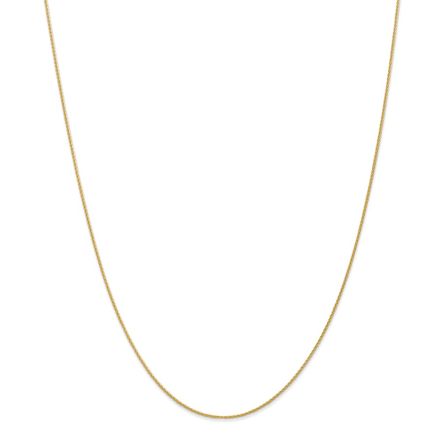14k Gold .95 mm Parisian Wheat Chain Necklace - 24 in.