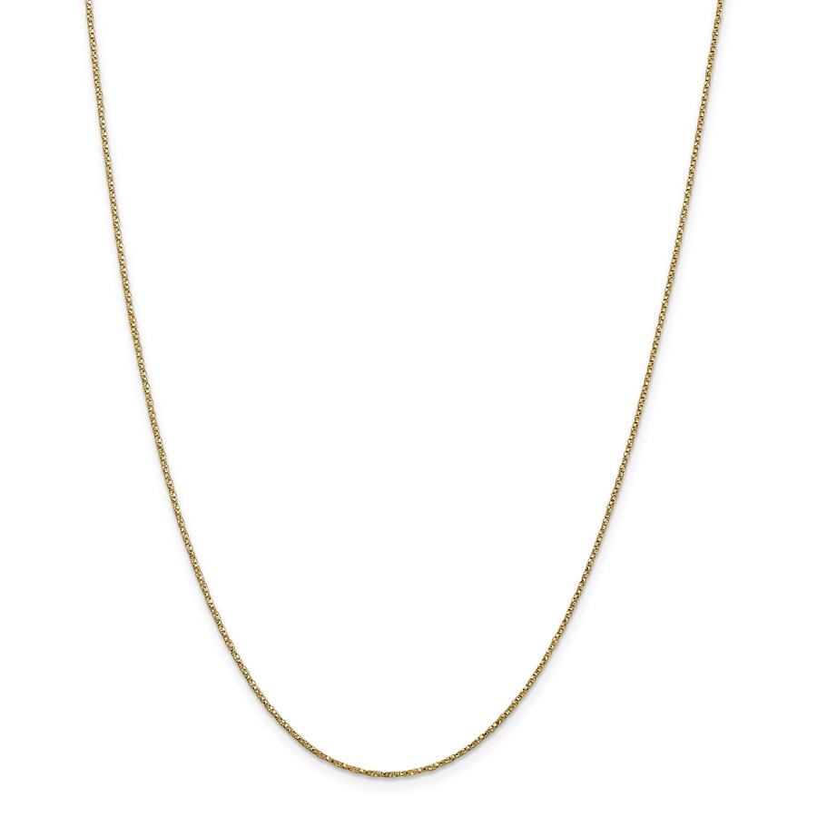 14k Gold .95 mm Twisted Box Chain Necklace - 18 in.