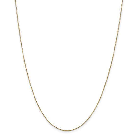 14k Gold Diamond-cut 0.65 mm Spiga Pendant Chain Necklace - 18 in