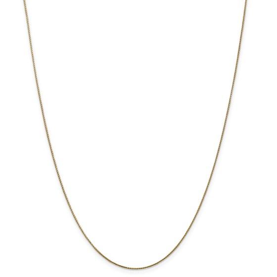 14k Gold Diamond-cut .65 mm Spiga Pendant Chain Necklace - 20 in.