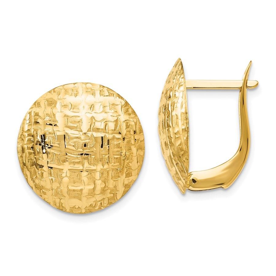 14K Gold Earrings - 18 mm