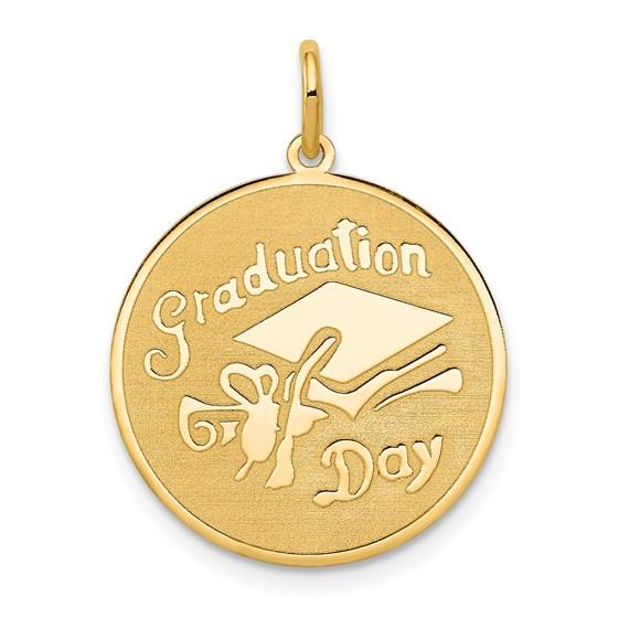 14k Gold Graduation Day Disc Charm
