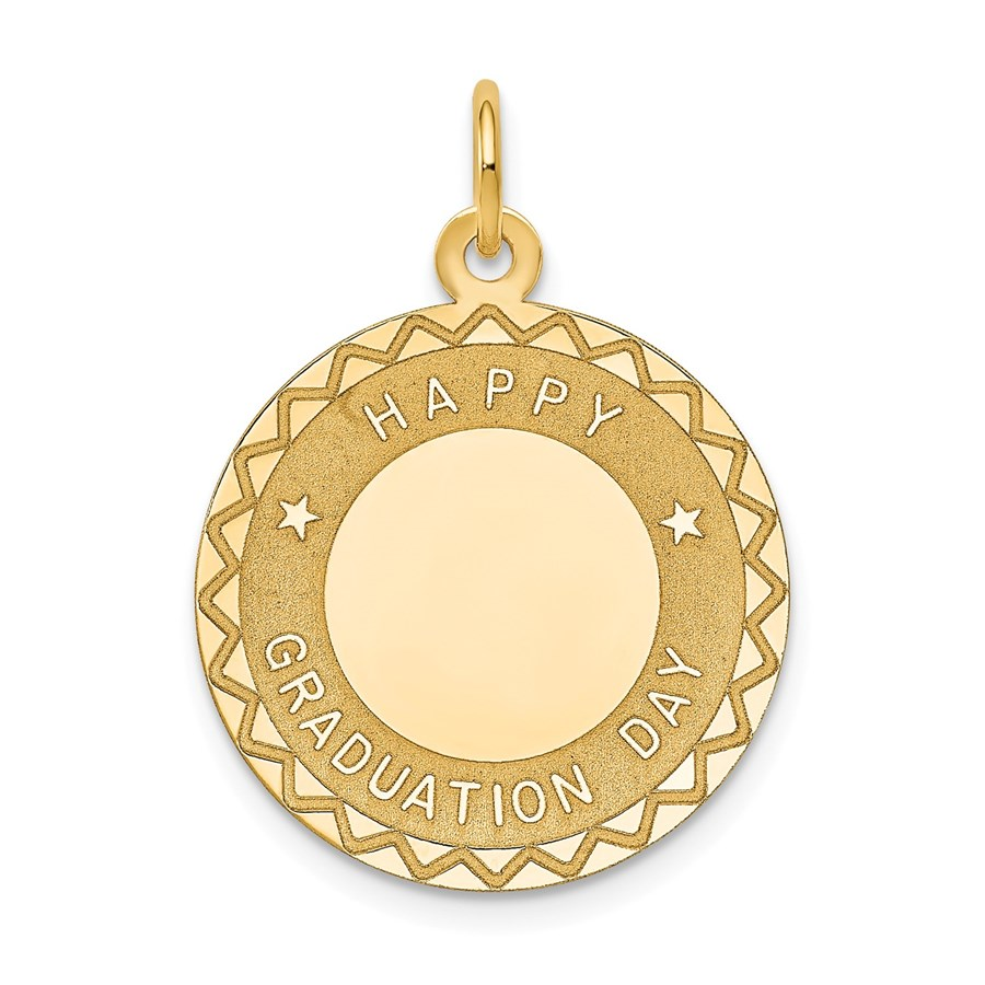 14k Gold Happy Graduation Day Charm