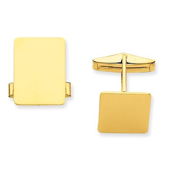 14k Gold Rectangular Cuff Links