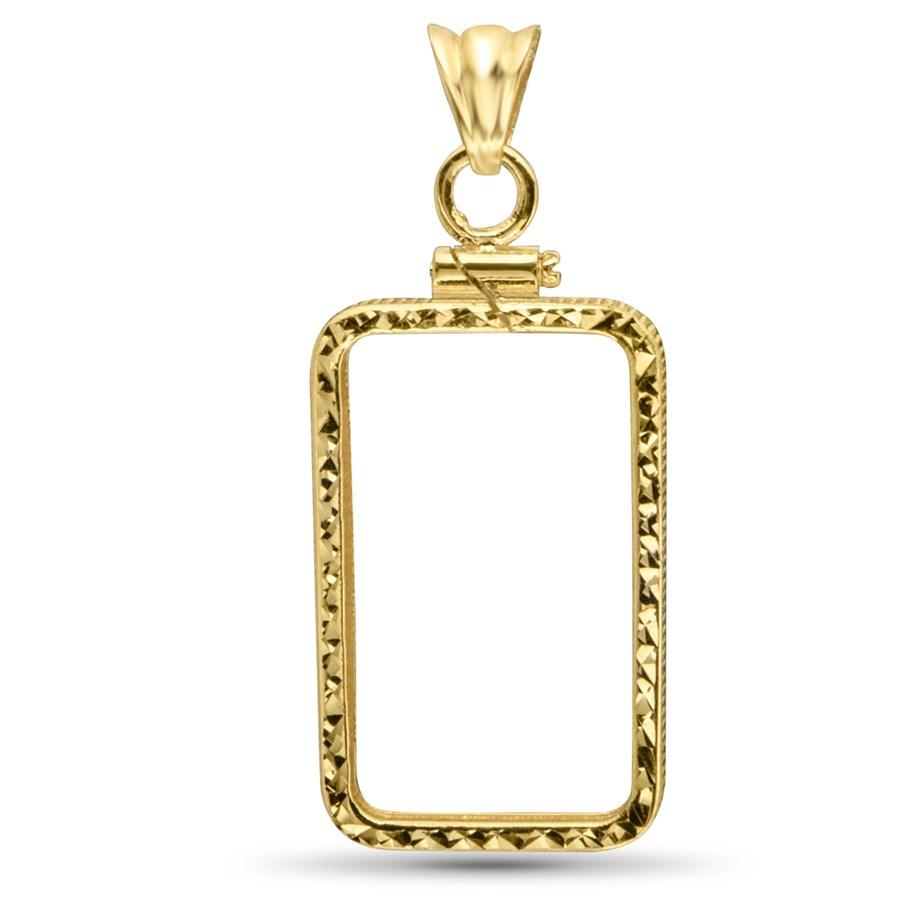 14K Gold Screw-Top D/C Bezel (1 oz Gold Bar) Pamp Suisse