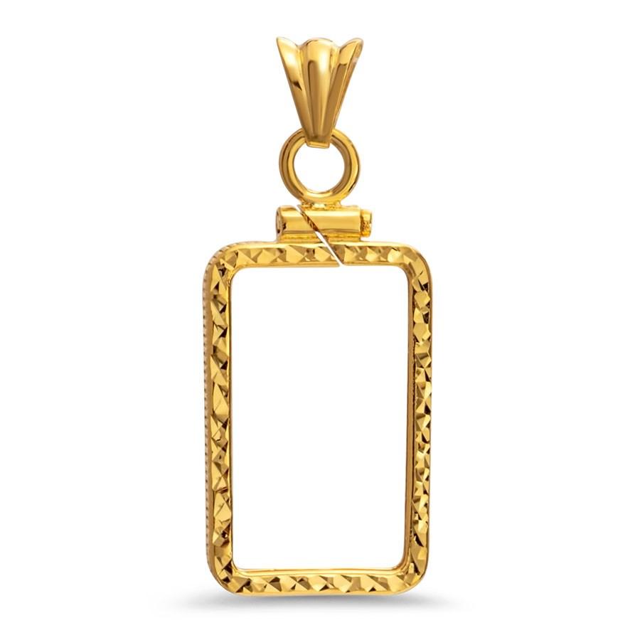 14K Gold Screw-Top D/C Bezel (5 gram Gold Bar) PAMP Suisse
