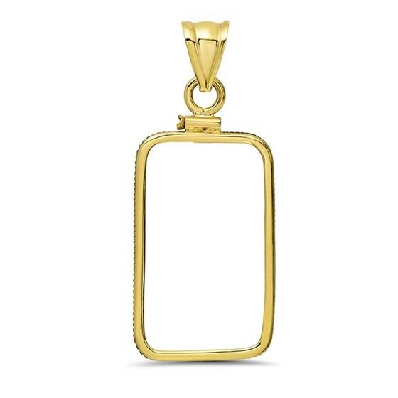 14K Gold Screw-Top Plain-Front Bezel (10 gram Gold Bar) Credit