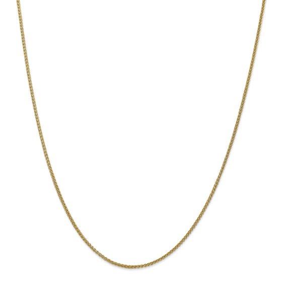 14k Gold Semi-Solid 1.55 mm Wheat Chain Necklace - 24 in.