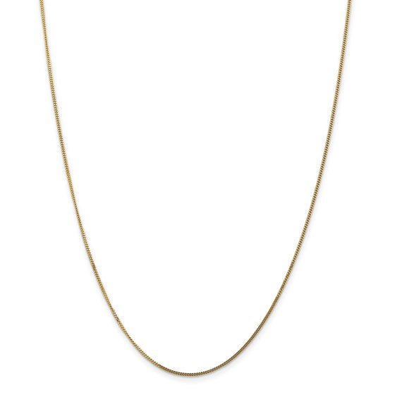 14k Goldy 1.3 mm Curb Pendant Chain Necklace - 16 in.