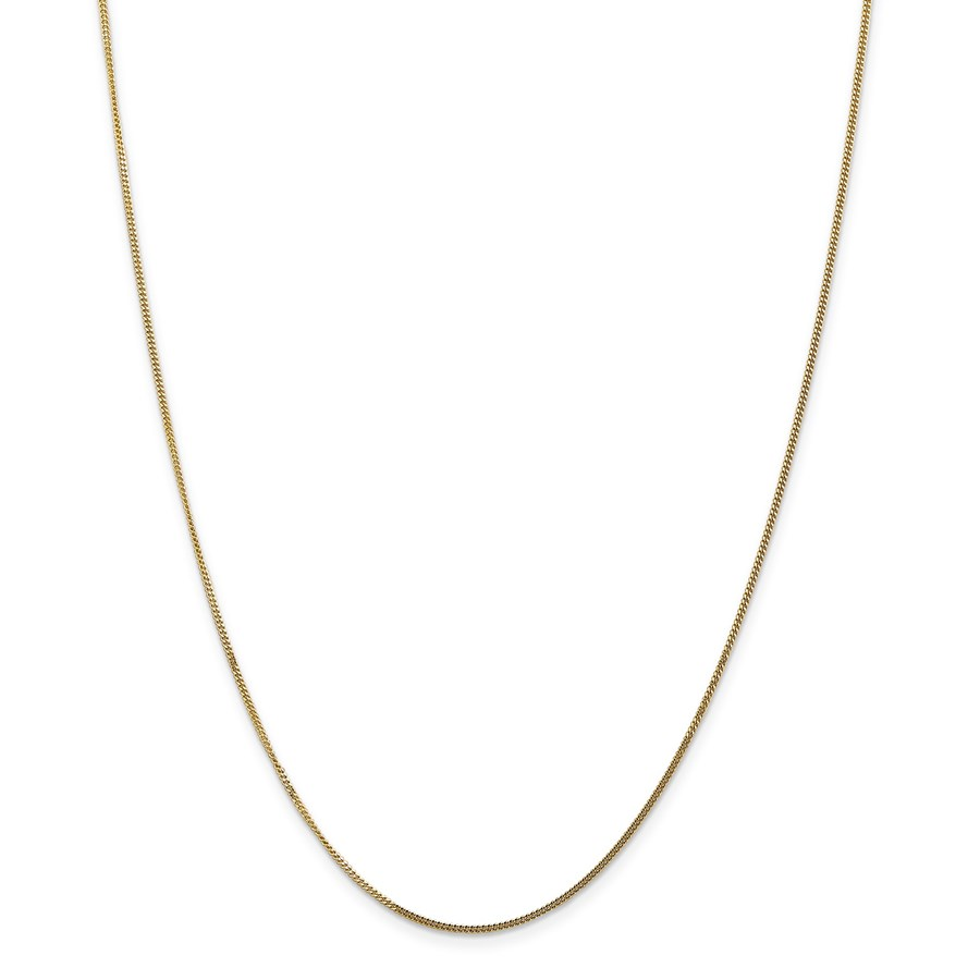 14k Goldy 1.3 mm Curb Pendant Chain Necklace - 20 in.