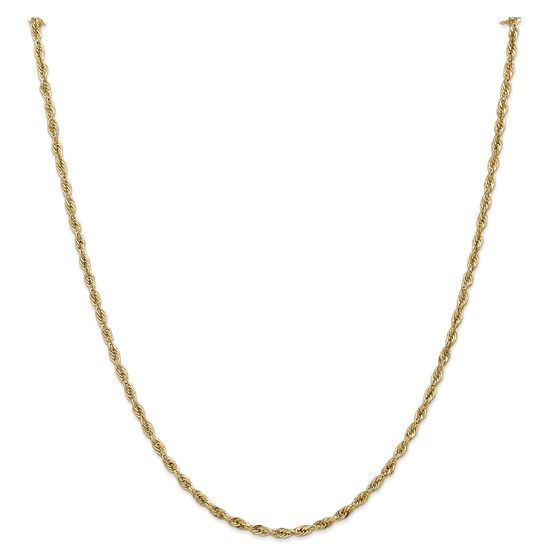 14k Goldy 2.8 mm Semi-Solid Rope Chain Necklace - 24 in.