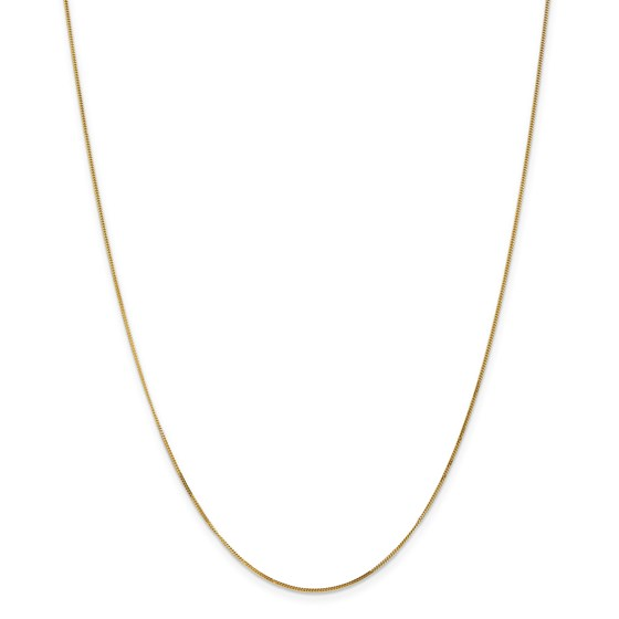 14k Goldy .9 mm Curb Pendant Chain Necklace - 20 in.