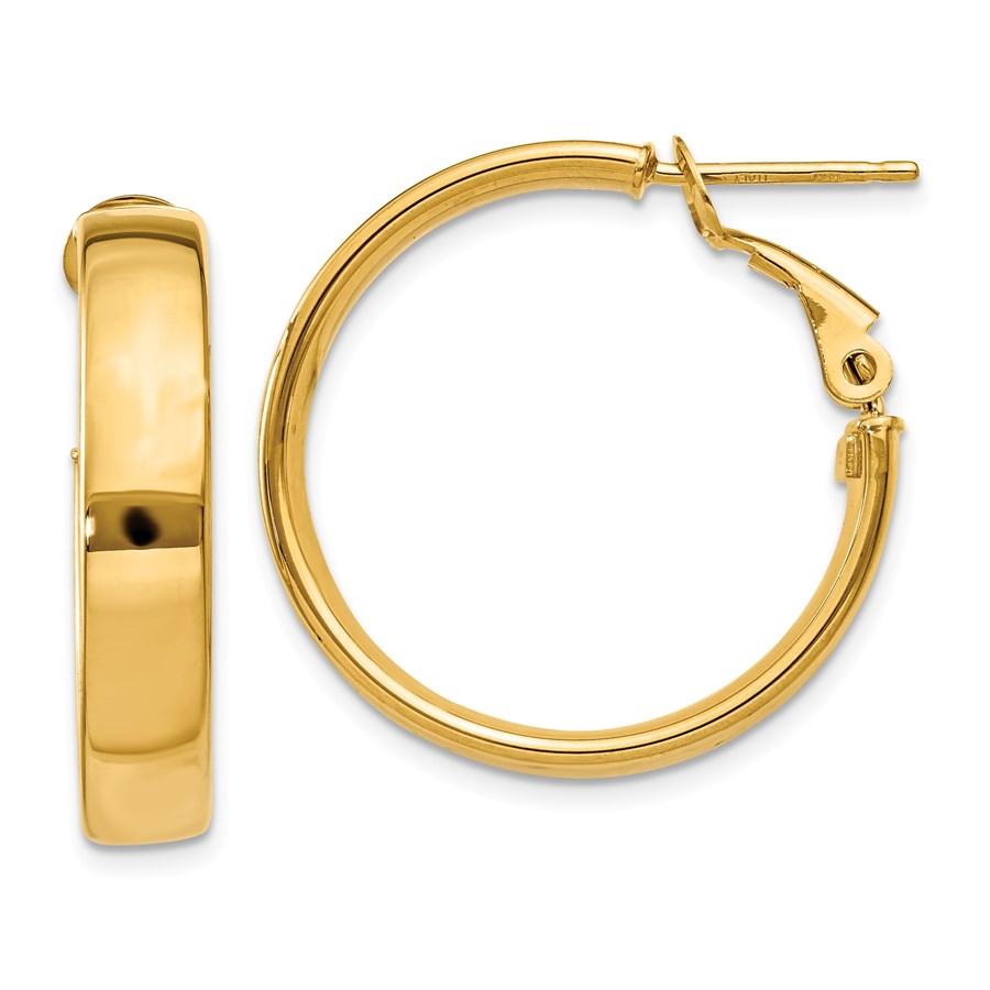 14k Hollow Hoop Earrings