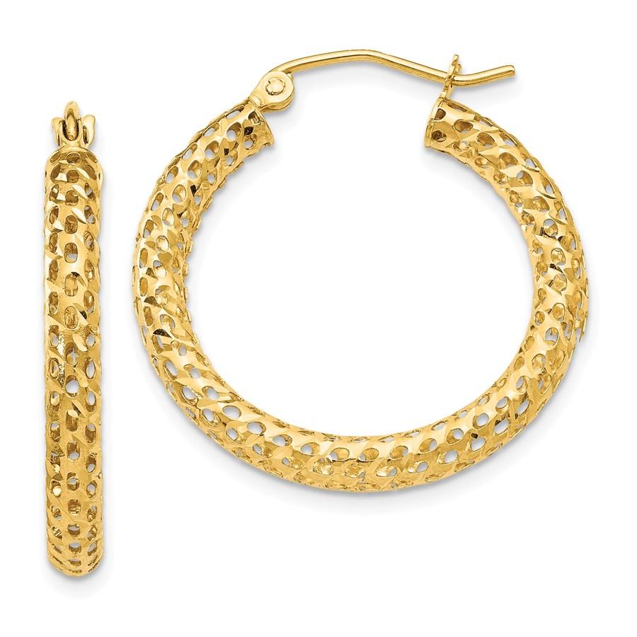 14k Mesh Hoop Earrings