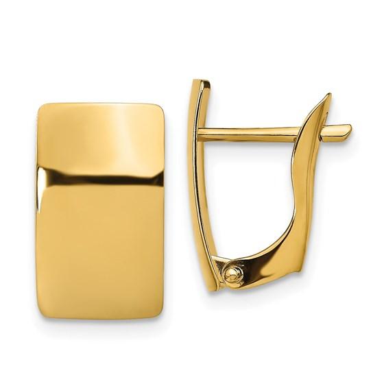 14K Polished Earrings - 15 mm