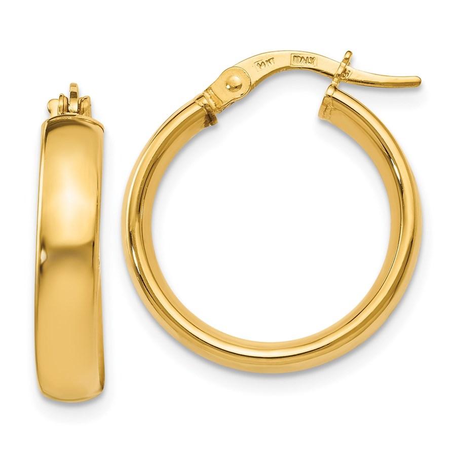 14K Polished Earrings - 20.5 mm