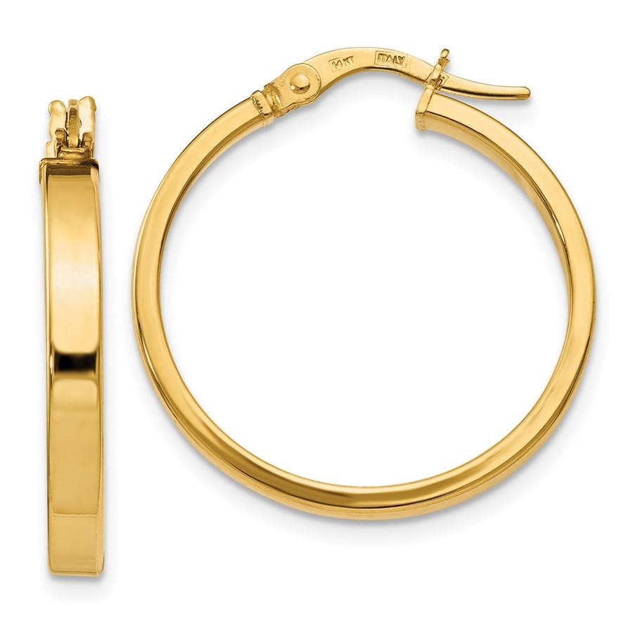 14K Polished Earrings - 24.5 mm