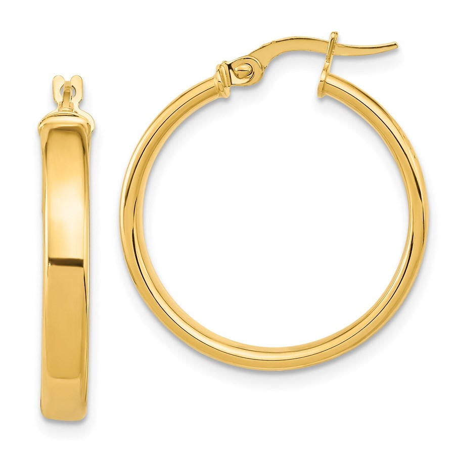 14K Polished Earrings - 25.75 mm