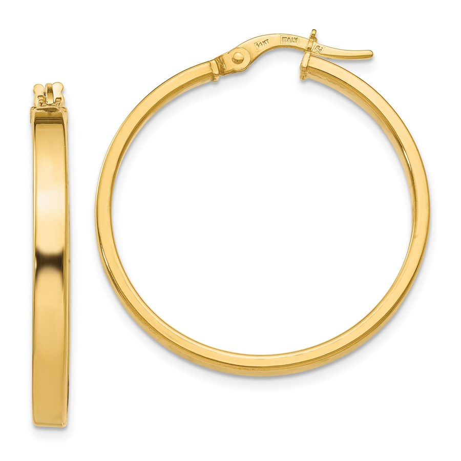 14K Polished Earrings - 30.5 mm