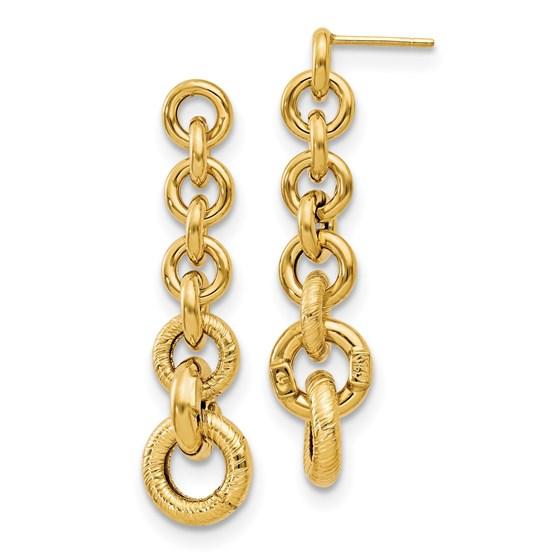 14K Polished Fancy Dangle Earrings - 41 mm