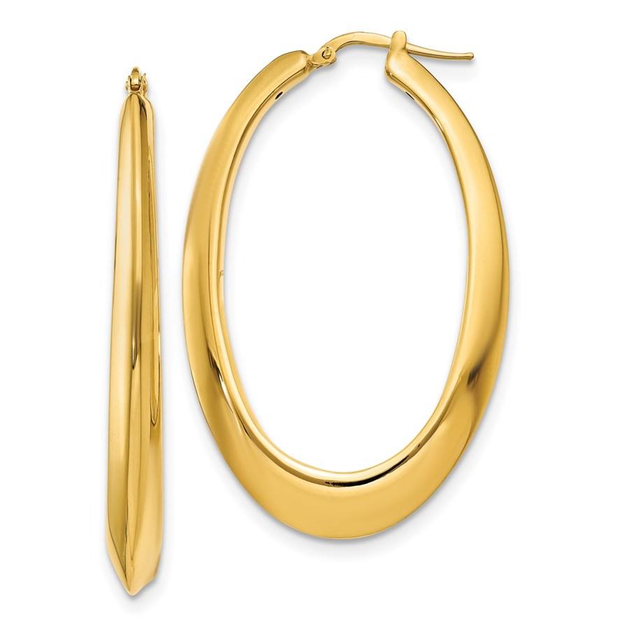 14K Polished Hoop Earrings - 54 mm