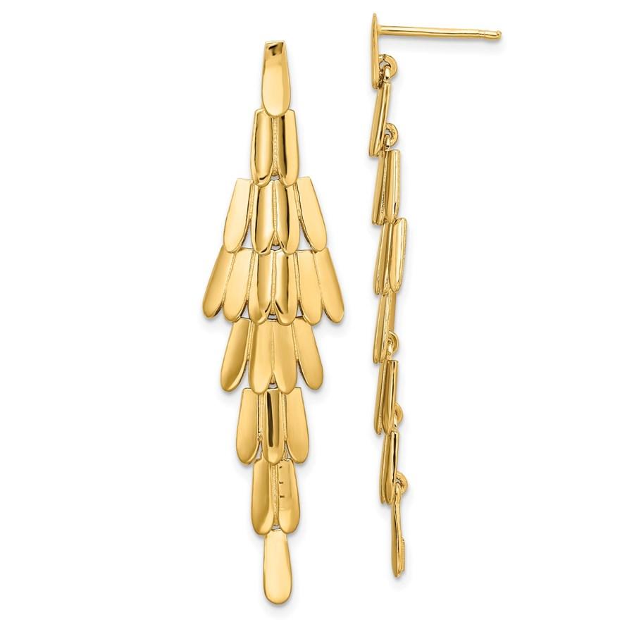 14K Polished Post Dangle Chandelier Earrings - 50.5 mm