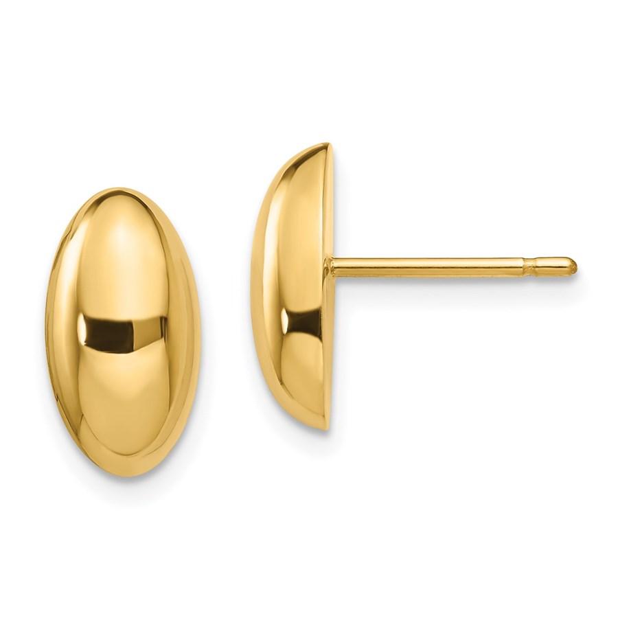 14K Polished Post Earrings - 12.76 mm