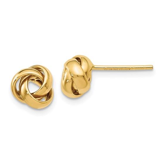 14K Polished Post Earrings - 8 mm