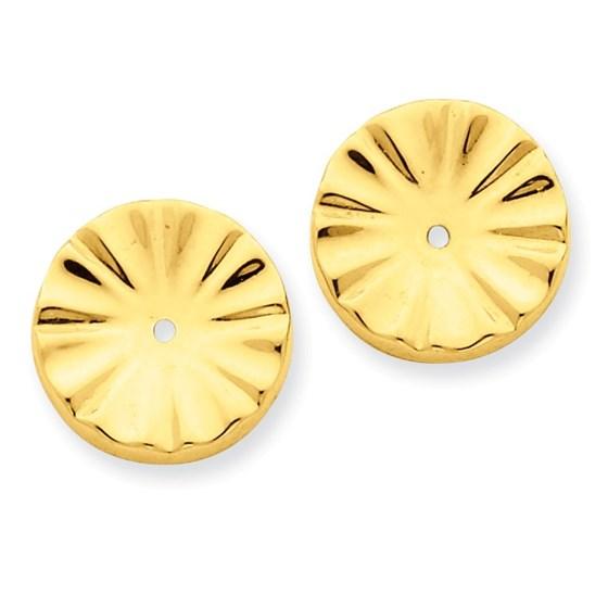 14k Polished Sunburst Earring Jackets