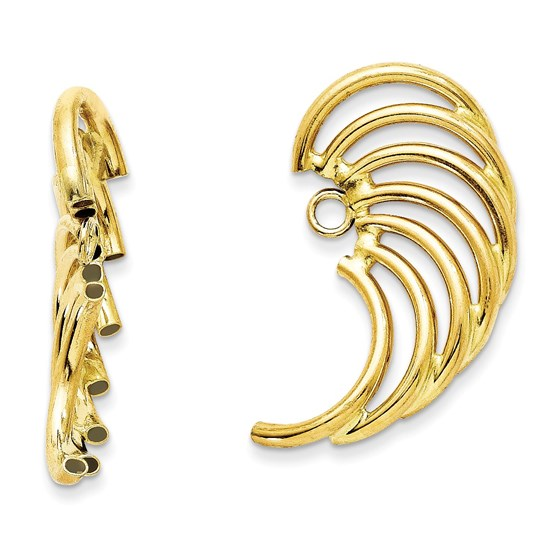 14k Polished Swirl Shaped Earring Jackets