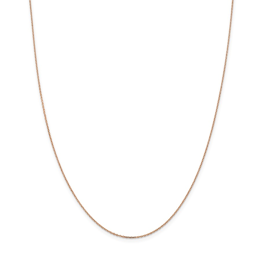 14k Rose Gold 1.0 mm Cable Chain Necklace - 20 in.