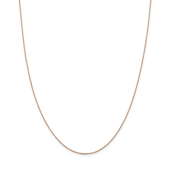 14k Rose Gold 1.0 mm Cable Chain Necklace - 24 in.