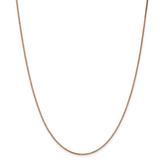 14k Rose Gold 1.10 mm Box Link Chain - 22 in.