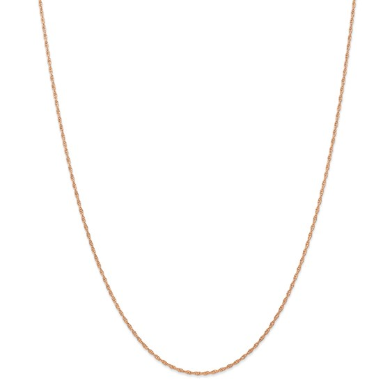 14k Rose Gold 1.15 mm Cable Rope Chain - 18 in.