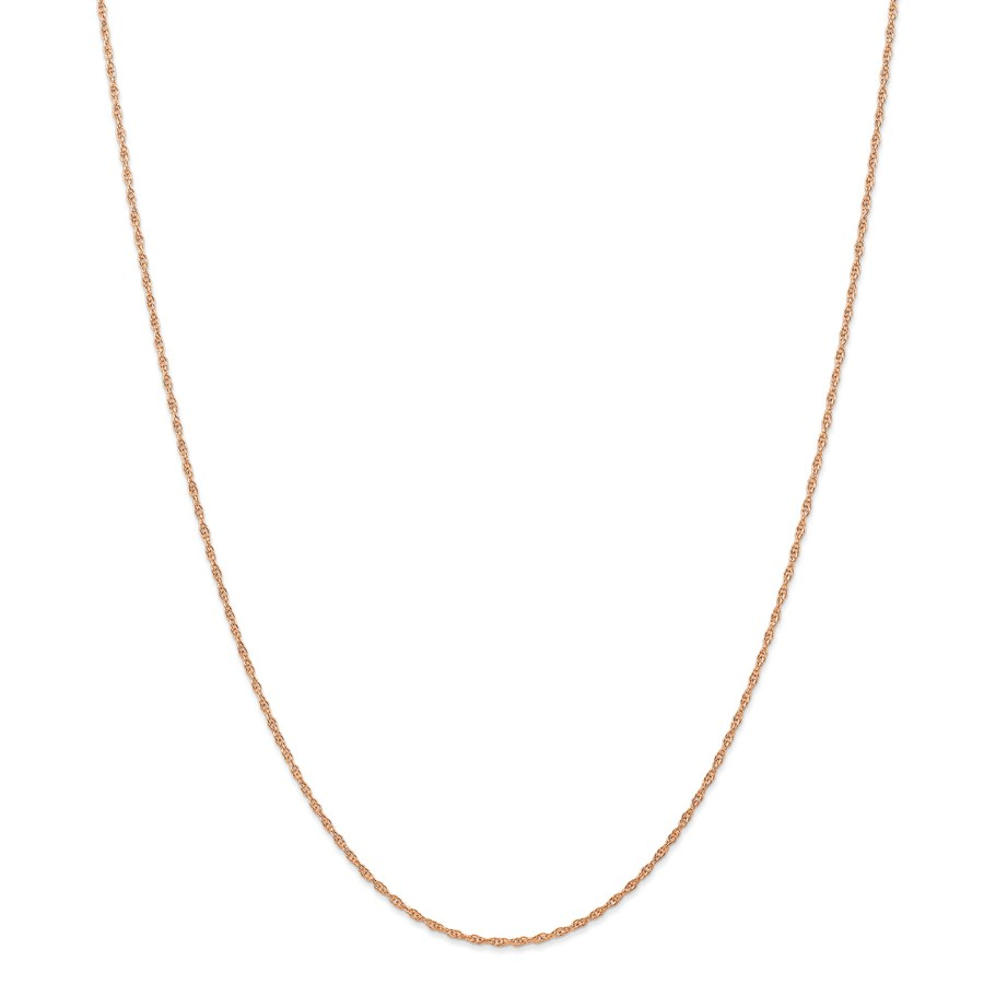 14k Rose Gold 1.15 mm Carded Cable Rope Chain Necklace - 18 in.