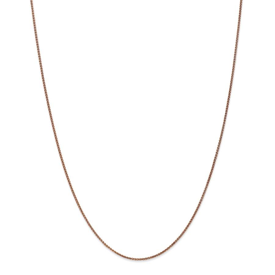 14k Rose Gold 1.2 mm Diamond-cut Spiga Chain Necklace - 18 in.